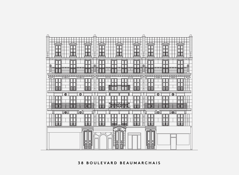 paris haussmann  lan architecture
